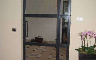 deur metaal glas